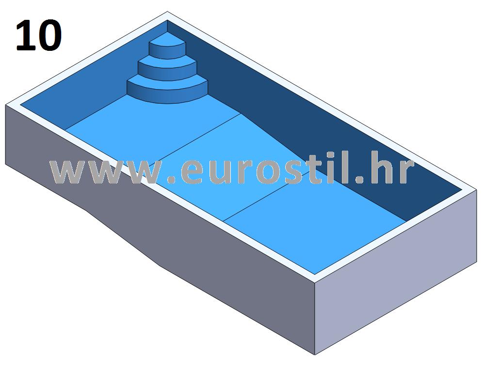 Veličina, dubina i oblik bazena - bazeni eurostil